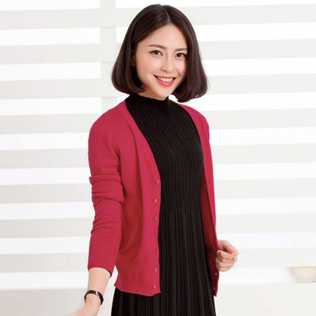 2019 Fashion Women Solid Color Crochet Knit Sweater Cardigan Spring ... dfb9fbadc
