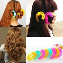 Moda 8 piezas Magic Hair Curler espiral Curls Roller Donuts Curl Hair Styling herramienta Accesorios(China)