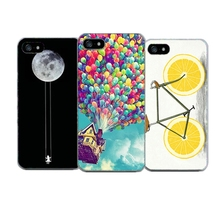 4S 5S For Iphone 4 4S 4G 5 5S SE Cases Lemon Bicycle Pattern Soft TPU Cover Phone Cases For Apple Iphone 4 4S 5 5S SE Shell