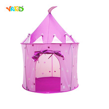 Kids Play Castle Pink Blue Foldable Tent Outdoor Indoor Playhouse Birthday Gift