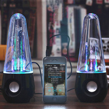 LED Dancing Water Fountain Light Music Wired Speakers for Phones Computer Laptop