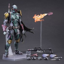 27cm Movie Star Wars 7 Boba Fett Play Arts Kai PVC Action Figure Toys Collectors Model Doll With Box
