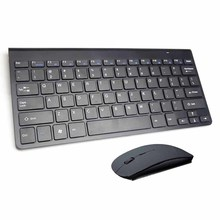 Portable Mute Keys Keyboards 2.4G Ultra Slim Wireless Keyboard&Mouse Set For Mac Win XP 7 10 Vista Android TV Box