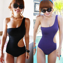 Hot Women One Shoulder Sexy S Shape Monokini One Piece Bath Swim Swimsuit Bikini M L XL HS