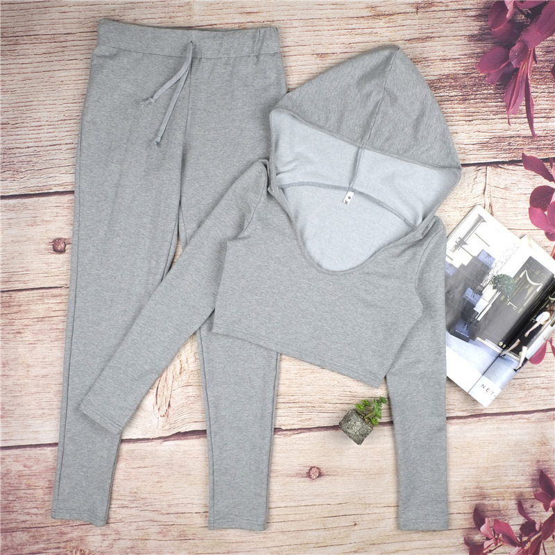 2017 New Tracksuit, Crop Hooded Top And Leggings, Sporting Clothes 11