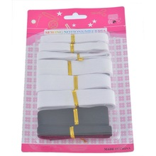 FUNIQUE 1Set Polyester Elastic Cord Black White Mixed DIY Sewing Accessories(China)