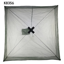 K8356 Nylon Foldable Crab Fish Crawdad Shrimp Fishing Accessories 80 x 80cm Bait Trap Cast Net Fishing Cage Wholesale(China)