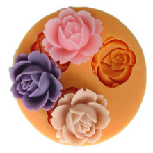 Hot Sale 3D Rose Flower Silicone Mold Chocolate Fondant Cake Baking Decoration Tool