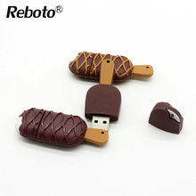 Usb flash drive 4gb 8gb 16gb 32gb 64gb Cartoon usb flash drive fashion funny chocolate ice cream pen drive thumb usb memory disk