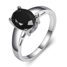 Black onyx 925 Sterling Silver Fashion Jewelry Engagement Wedding Ring Size 5 6 7 8 9 10 11 12 PPR12