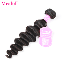 "[Mealid] Peruvian Hair Loose Wave Bundles 1 Piece Only Human Hair Weave Non-remy Natural Color 8""-28"" Hair Extensions(China)"