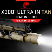 Element Airsoft Tactical X300 Ultra Weapon Lights Pistol lanterna Airsoft Flashlight X300U with Picatinny Rail EX359(China)