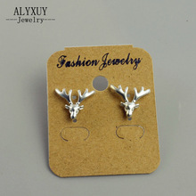 Fashion jewelry gold silver color elk deer stud for women men lovers' gift 1lot=2pairs E3279