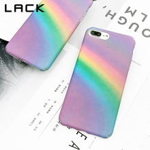 LACK Gradient Rainbow Phone Case For iphone 7 Plus Case Colorful Abstract Art Painted Back Cover For iphone 7 Cases Fundas(China)