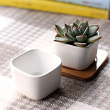 New home micro garden decoration mini pots square juicy plants vase flowerpots container small bonsai pot DIY accessories props
