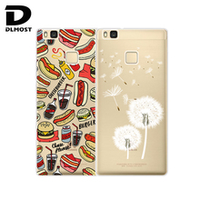TPU Soft Case For Huawei Ascend P9 Lite Transparent Printing Drawing Silicone Phone Cases Cover For Huawei Ascend P9Lite
