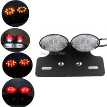 Free Shipping New LED Quad ATV Turn Signal Brake Light W/ License Plate Integrated Tail Dual Lamp for Most of Motorcycle Custom