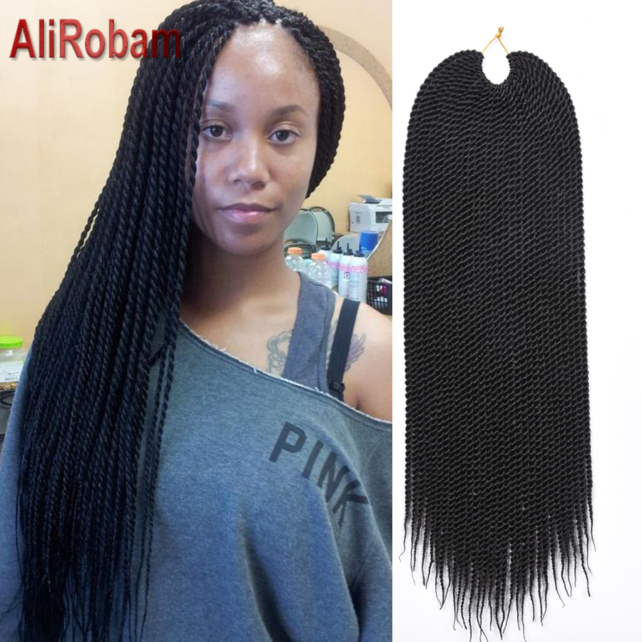 wholesale 22inch 30strands/pack crochet braids synthetic box braids crochet braids crochet hair extensions senegalese twist hair<br><br>Aliexpress
