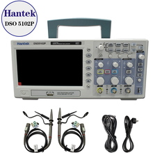 Hantek DSO5102P Digital Oscilloscope 100MHz 2Channels 1GSa/s Real Time sample rate USB host and device connectivity 7 Inch