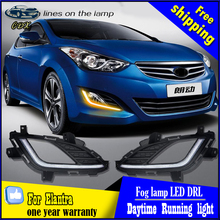 High bright&Best Quality 2012-2014  Elantra LED Daytime Running Light (DRL) Fog light with turn sign for Hyundai Elantra
