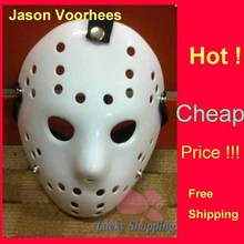 Black Friday NO.13 Jason Voorhees Freddy hockey Festival Full Face Party Mask Pure White 100gram PVC For Halloween 50pcs/lot