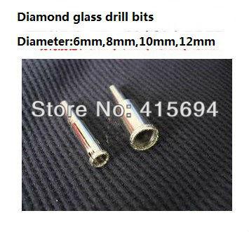 Free Shipping 4 PCS Set Diamond Coated Drill accessories Bits Hole Saw Glass Granite Cutter opener Bits 6mm-12mm<br><br>Aliexpress