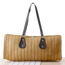 New Arrival Beach Bags Women Large Women Tote Bags 2017 Woven Straw Handbags Summer Fashion Women Messenger Bags Vintage Ladies