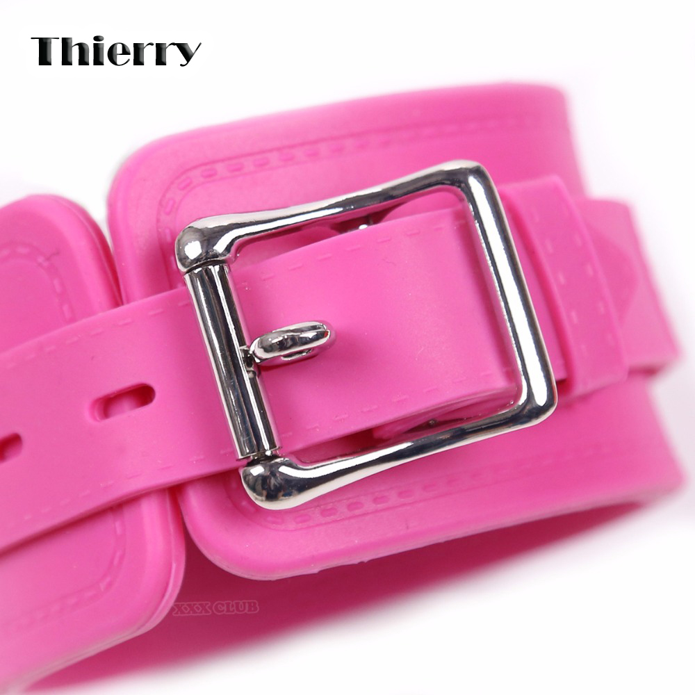 Thierry Silicone Handcuffs hot sell Shackles ankle cuffs Valentine Gift Sex Bondage Restraints Couples Erotic Adult Games  Toys <br>