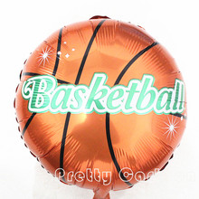 18'' Basketball Balloons Football Aluminum Balloons Happy Birthday Decoration Globos Party Ballon Palloncini Kids Toys