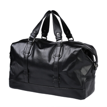 New Arrival Traveling Bags Large Capacity Luggage Bags Fashion Men Bussiness Travel Bags Men's Leather Duffle Bags PT1140(China)