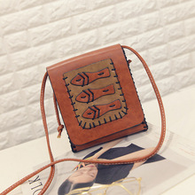 Women Casual Cute Messenger Bags Cartoon Printed PU Leather Shoulder Bag For Kids Girls Small Handbags Crossbody Telephone Bag