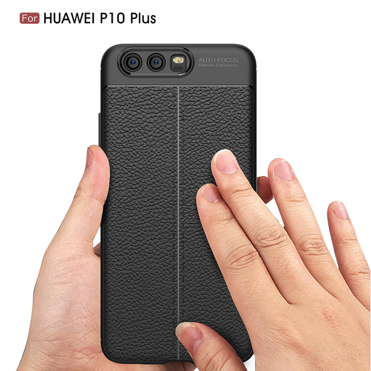 TIKONO Case For Huawei P10 Plus Cover Silicon TPU Luxury Leather Slim Soft Protective Cell Phone Cases for Huawei P10 Plus Case 3