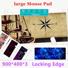 Super Locking Edge large Game Mouse Pad 900*400*3 high quality DIY pictures super big size computer game tablet mouse pad