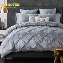Night Tender pleated washed silk fisher net king queen size duvet cover set/silver(China)