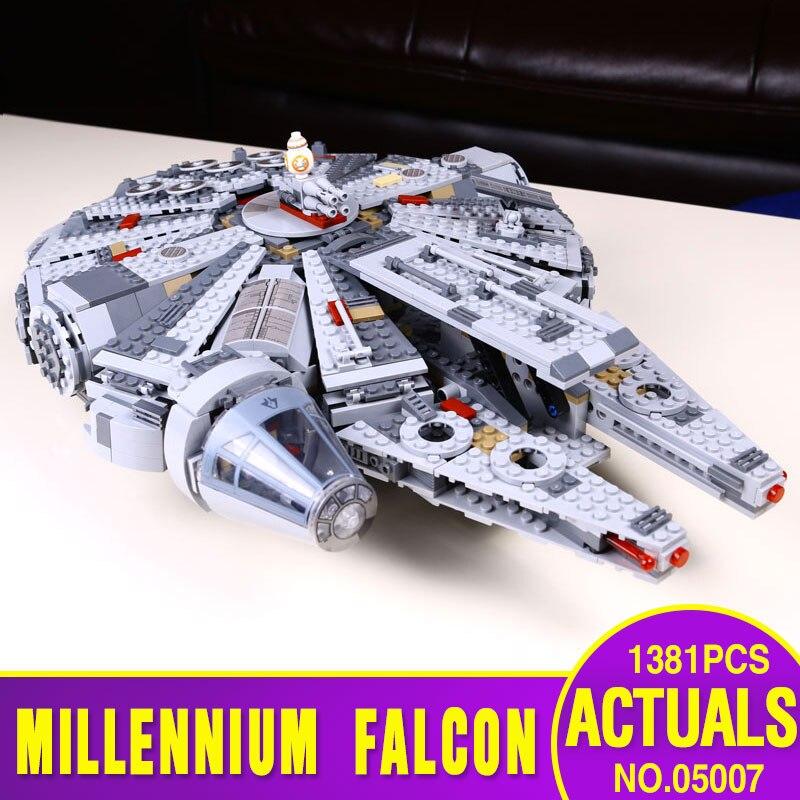 1381pcs Star Wars 05007 Millennium Falcon Figure T...