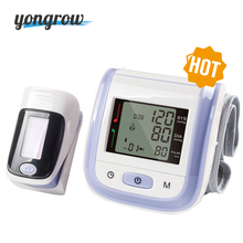 Yongrow 2017 New Arrival Hot Gift Fingertip Pulse Oximeter SpO2 And Wrist Blood Pressure Monitor Sphygmomanometer Oximetro