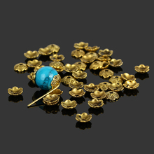 300pcs/lot Tibetan Ancient Gold Plated 6mm Filigree Flower Bead Caps Findings Jewelry Accessories DIY Craft(China)