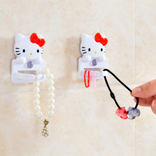 1pcs Japan Hello Kitty Sucker type rubber ring socket plug hook hanging storage rack bracket