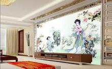 3d wallpaper custom mural non-woven 3d room wall sticker  Chinese ancient beauty indoor painting photo 3d wall murals wallpaper
