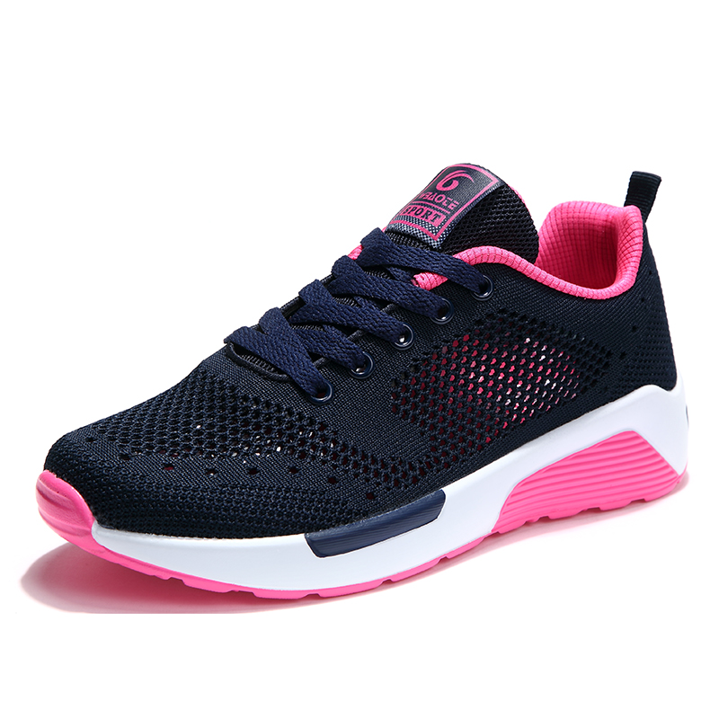 2017 New women running shoes Light weight breathable jogging Footwear for women summer mesh air sports women shoes Zapatos mujer<br>