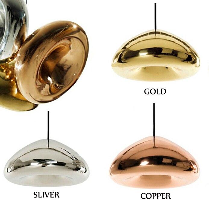 S      Void Copper Brass Bowl Mirror Glass Bar Art  Modern E27 LED Pendant Lamp 15CM 30CM For Cafe Bar Store Coffee Shop Bedside<br>