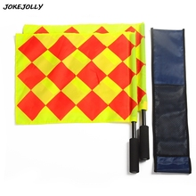 Soccer Referee Flag with Bag Football Judge Sideline Fair Play use Sports Match Football Linesman Flags Referee Equipment GYH