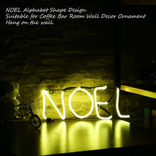 New Arrival Neon Sign Light NOEL Alphabet Shape Design Room Wall Decorations Home Love Ornament Coffee Bar Mural Crafts(China)