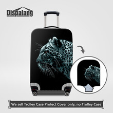 Dispalang Travel Luggage Protective Covers 3D Leopard Print Suitcase Dust-proof Covers for 18-30 Inch Trolley Case Elastic Cover(China)
