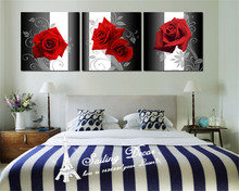 Paintings For Living Room Wall Canvas Modern Art Rose Flower Best Decor HD Artist Cuadros Paints Wall Art Pictures