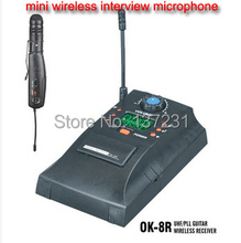 MINI wireless Interview microphone AH13 Professional UHF PLL instrument Wireless System Microphone wireless microphone audio(China)