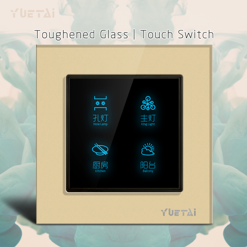 Smart Wall Switch  Glass touch light switch for Smart Home<br>