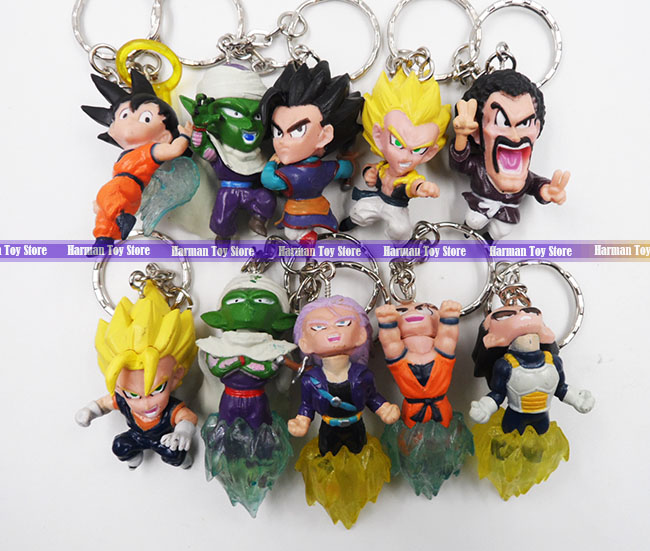 10pcs/LOT 4.5cm pvc Q version Japanese anime figure Dragon ball action figure set keychain kids toys for boys<br><br>Aliexpress