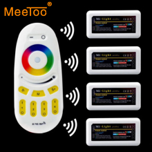 2.4G Wireless RF Remote Controller and 4PCS RGB RGBW 4-zone RGB LED Controller DC12-24V For 5050 3528 Led Flexible Strip Light