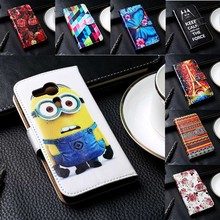 Luxury Flip PU Leather Mobile Phone Cases For Sony Xperia E5 F3311 F3313 Covers With Card Holders Anti-Knock Bags Housings